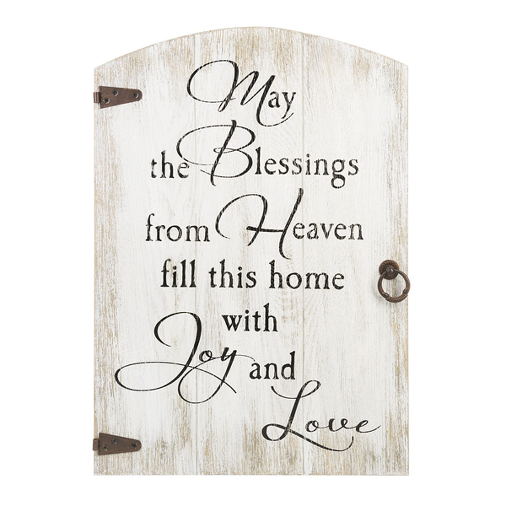 Door Plaque - May the blessings from heaven...