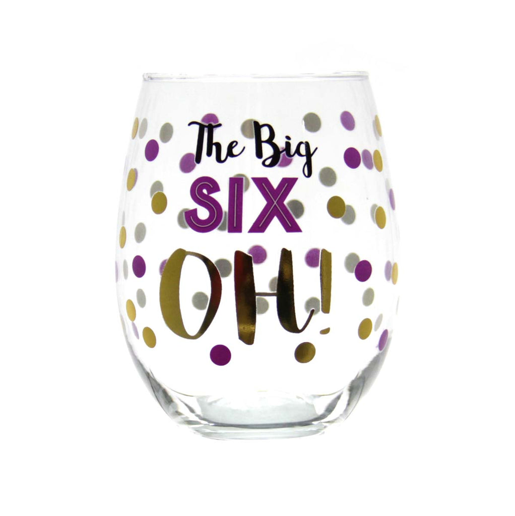 Stemless Wine Glass -  The Big Six OH