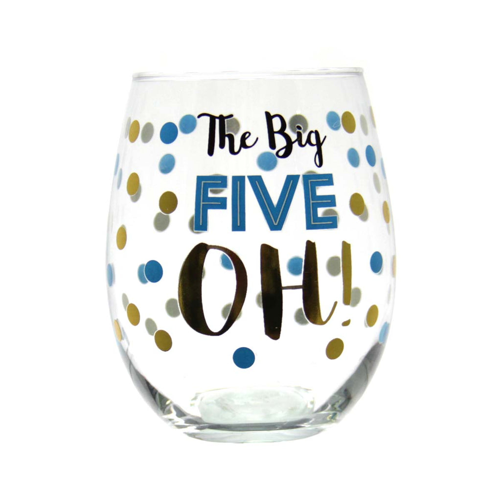 Stemless Wine Glass -  The Big Five OH