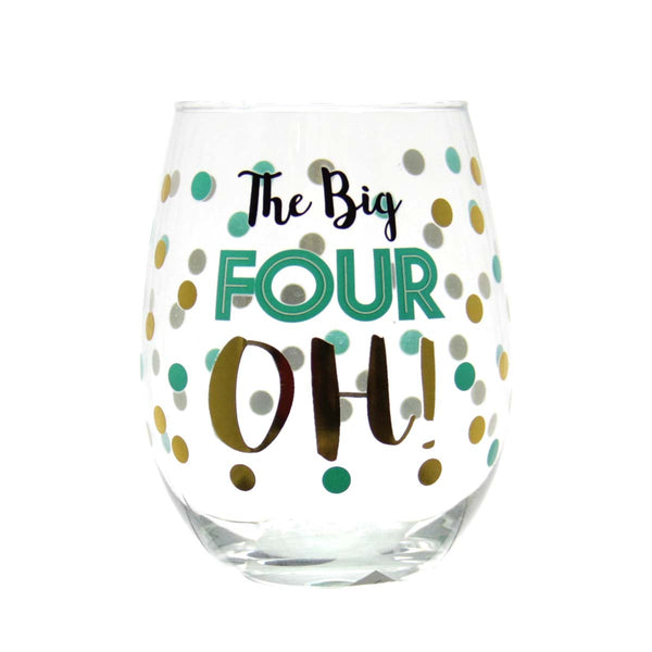 "Stemless Wine Glass -  ""The Big Four OH!"""