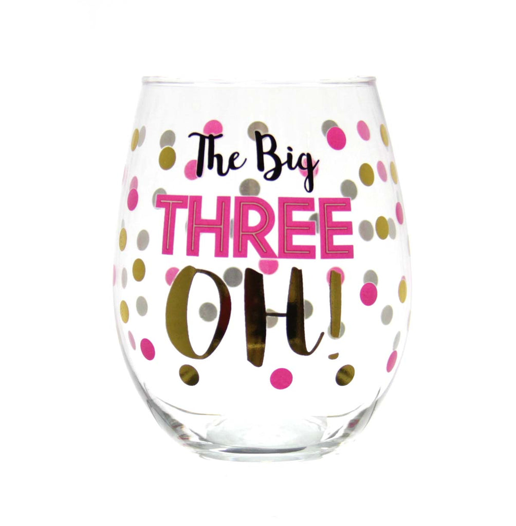 Stemless Wine Glass -  The Big Three OH