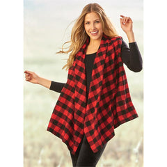 Charlie Paige Plaid Vest XL/L