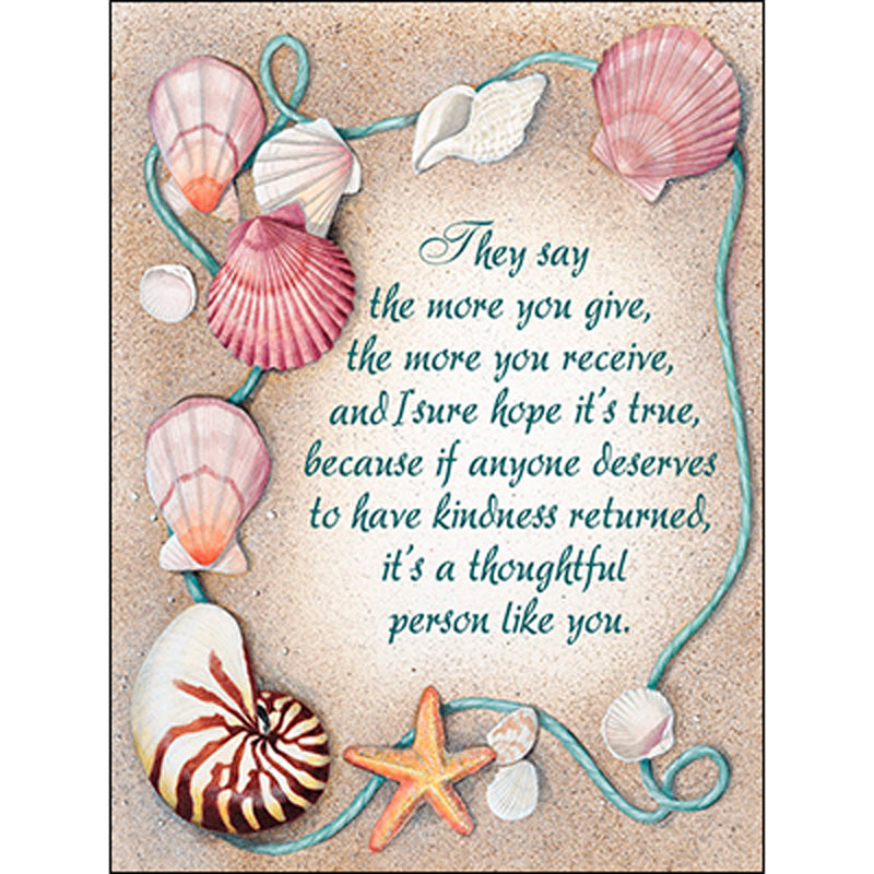 thank you  appreciation card a thoughtful person like