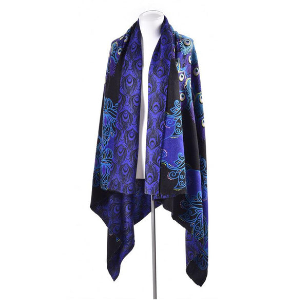Avenue 9 Peacock Boutique, Peacock Design Wrap Purple