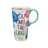 Ceramic Travel Cup, 17 OZ., w/box, You Take The Cake