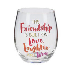 Stemless Wine Glass Girlfriends - Friendship