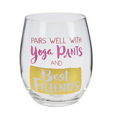Stemless Wine Glass Girlfriends - Yoga