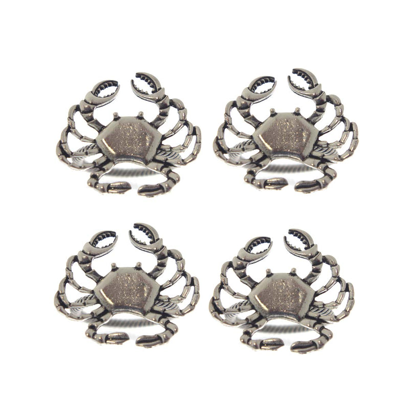 Crab Design Napkin Rings Set of 4