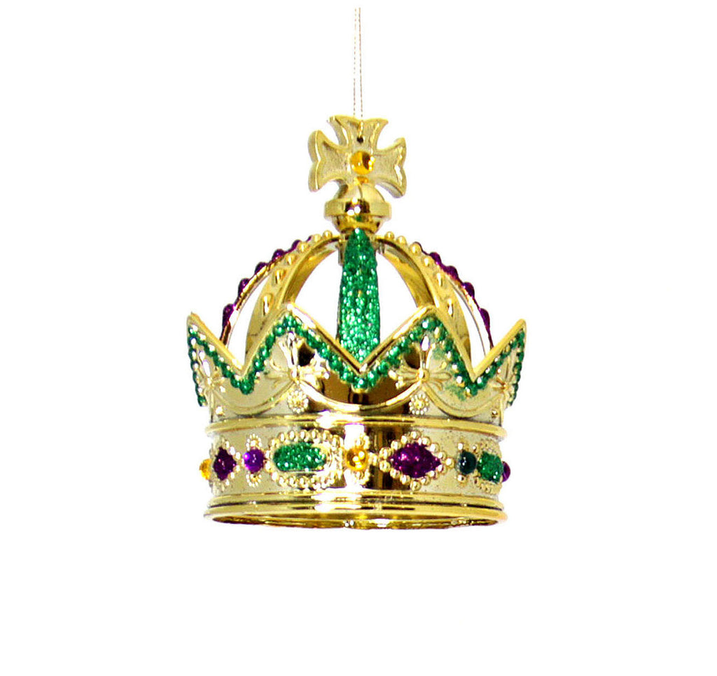 Crown Ornament Mardi Gras Glitter