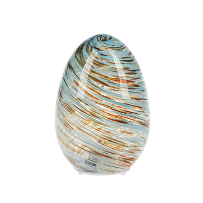 Light Up Egg Orb-Swirl Blue/Brown