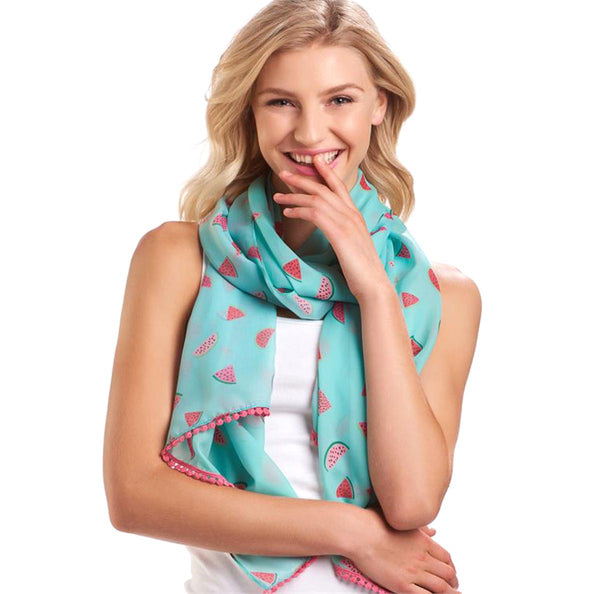 Charlie Paige Watermelon Print Scarf