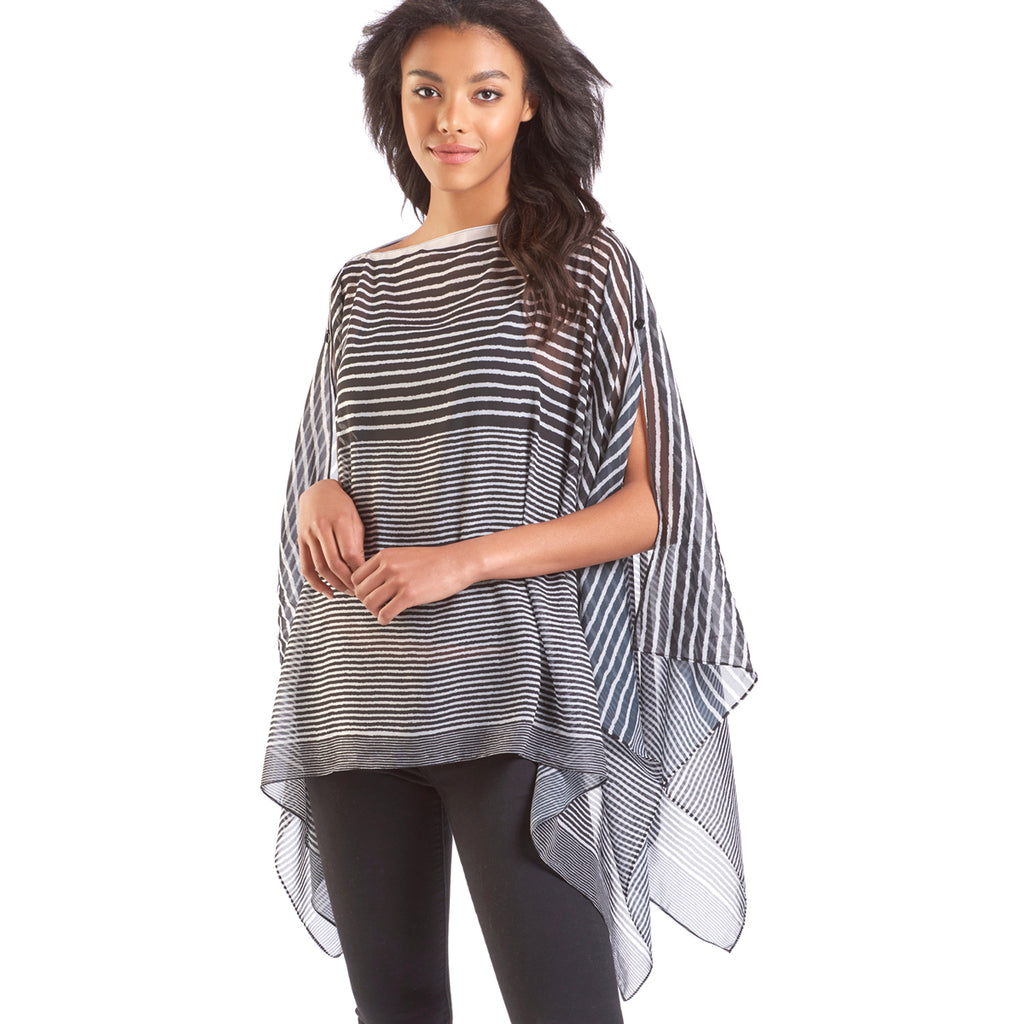 Charlie Paige Striped Poncho