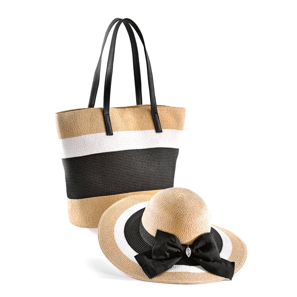 Charlie Paige Paper Straw Hat & Bag Set