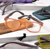 '+2.00 Spring Hinge Glasses with Case-Orange