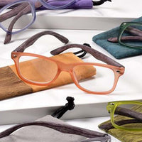'+1.50 Spring Hinge Glasses with Case-Orange