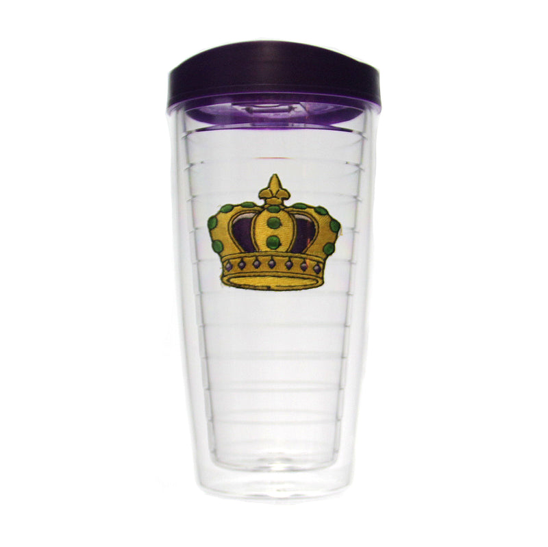 Insulated Tumbler Mardi Gras Crown, 16 oz.