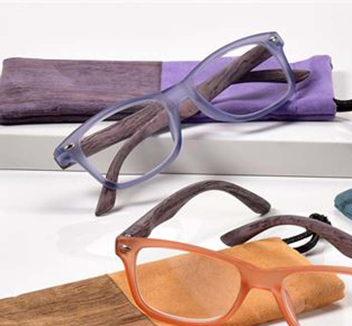 '+2.50 Spring Hinge Glasses with Case-Purple