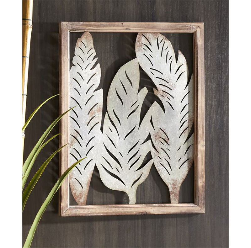 Feather Design Wall Decor
