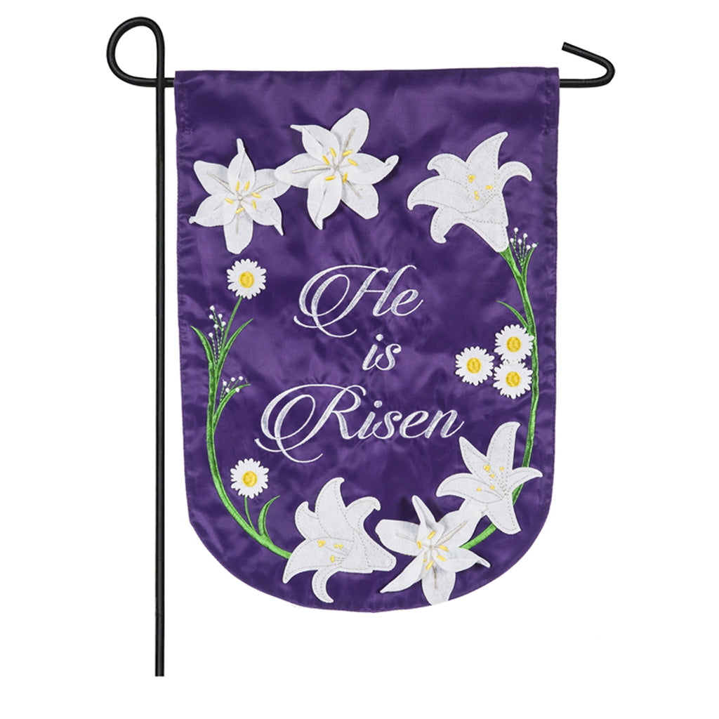 Easter Lily Garden Applique Flag