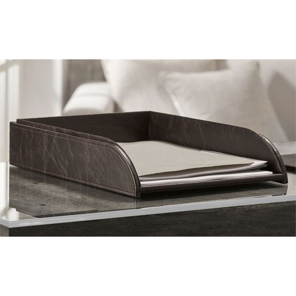 Faux Leather File Tray