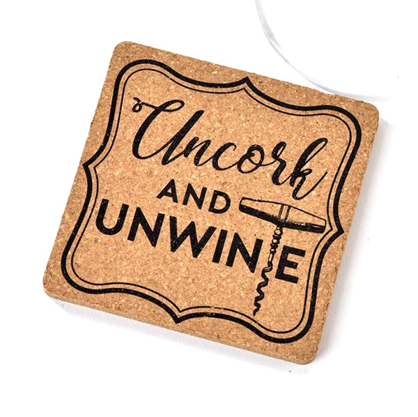 Cork Coaster Uncork and Unwine