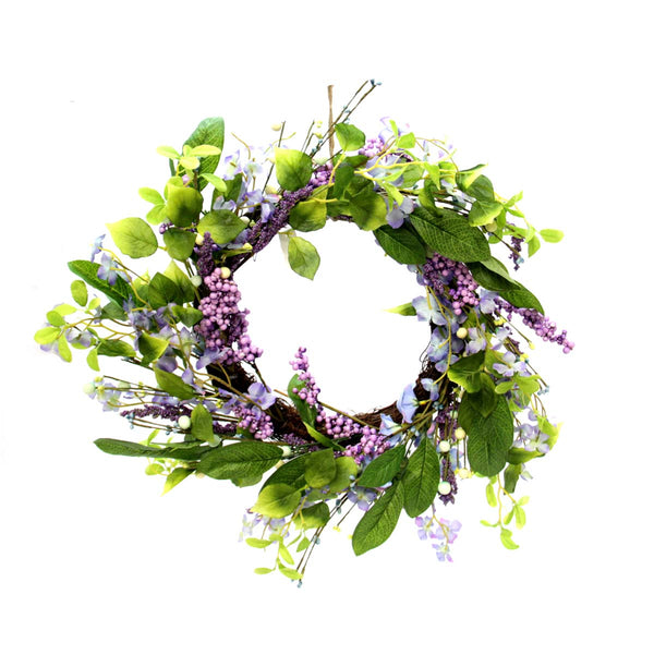 "Flower Lavender 12"" Wreath"