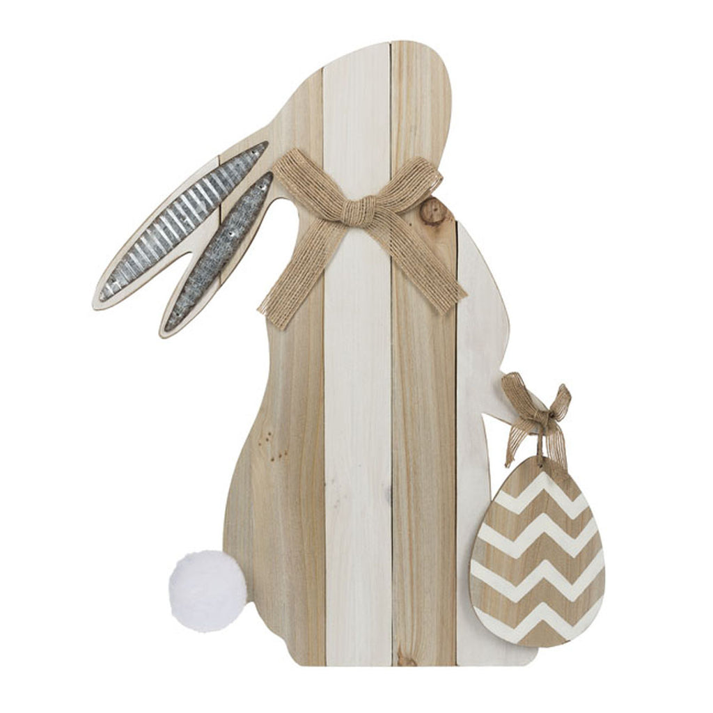 Bunny Figurine with Easel  Back