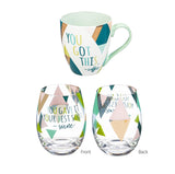 Cup and Stemless Wine Gift Set, You Gave It Your Best Shot