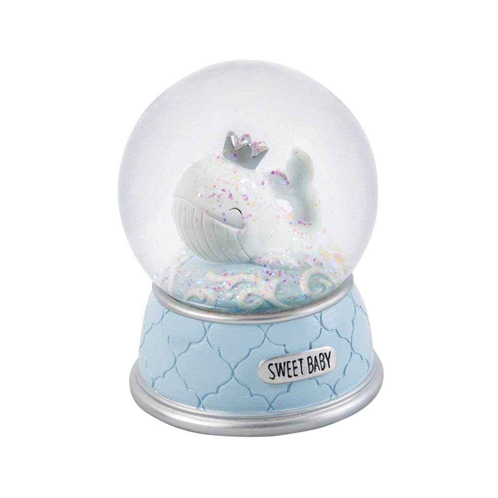 Whale Waterglobe/Music Box, Blue