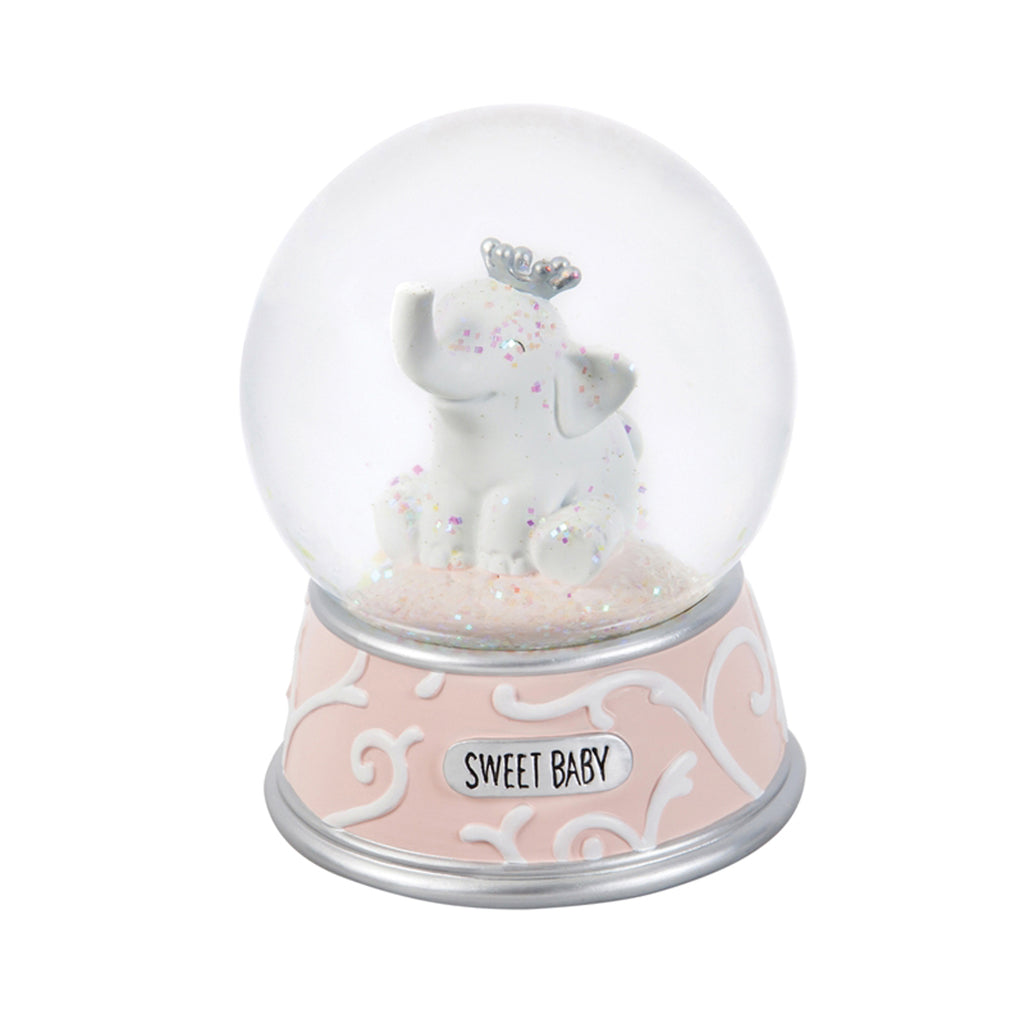Elephant Waterglobe/Music Box, Pink