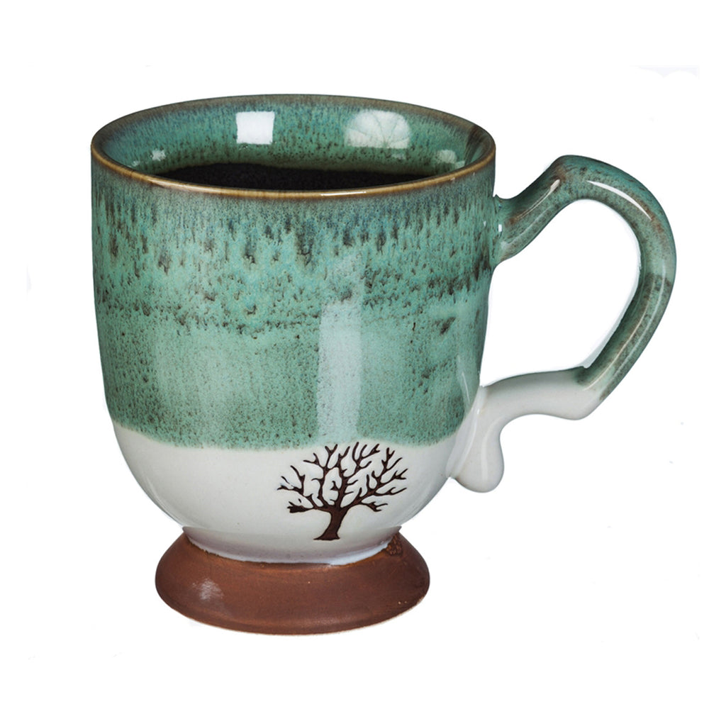 Artisan Series Cup, 14 OZ., w/stamped accents, Tree