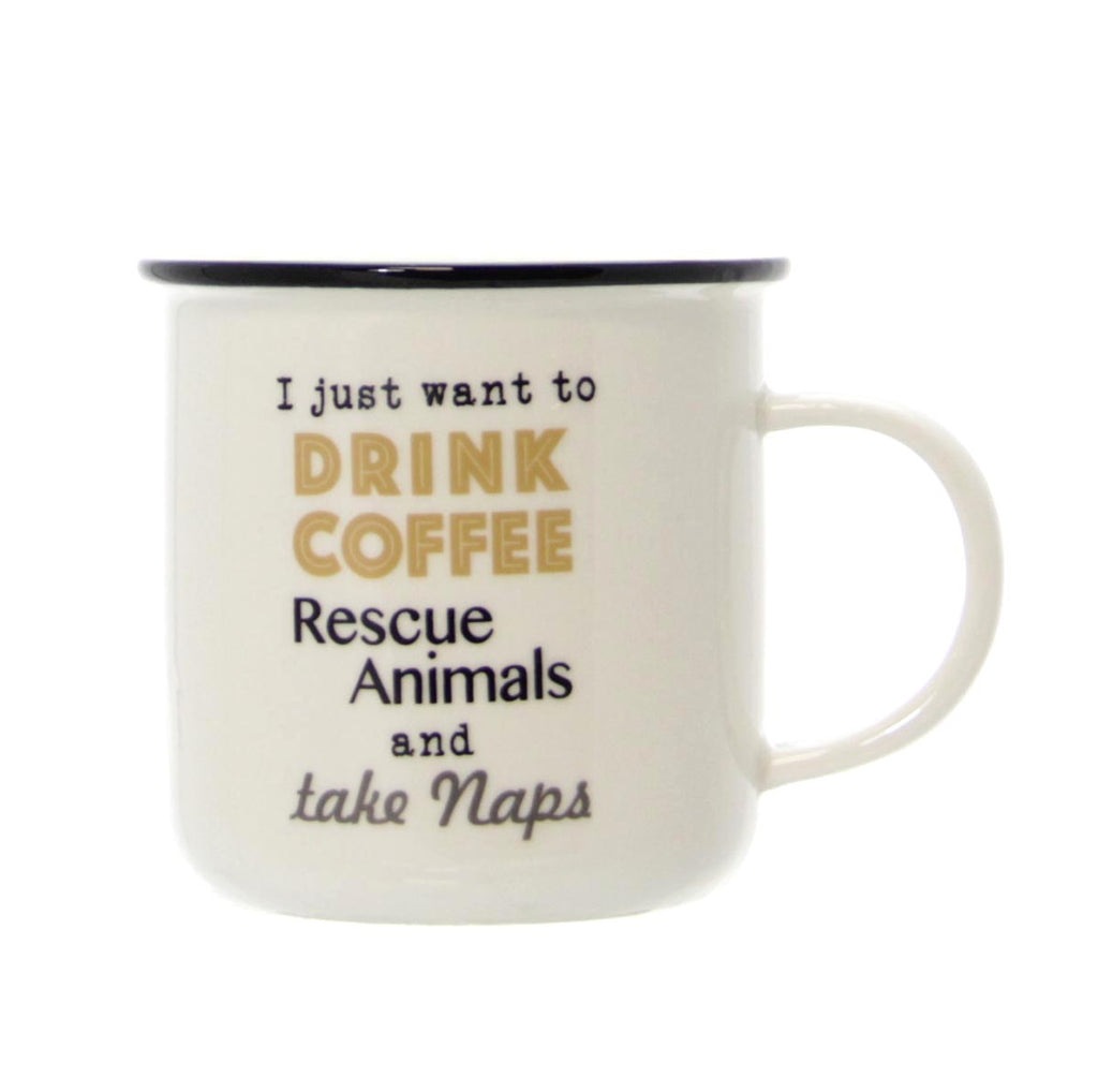 Coffee, rescue animals, naps Mug