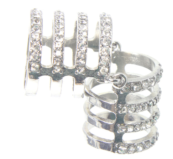 Open Stud Cage Design Ring