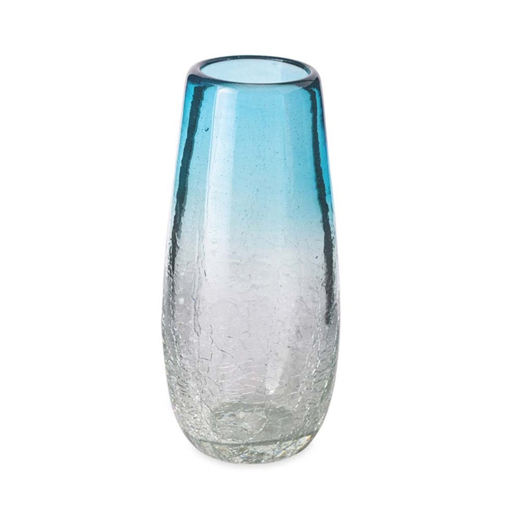 Recycled Glass Stemless Champagne, 10 OZ, Maya Aquamarine
