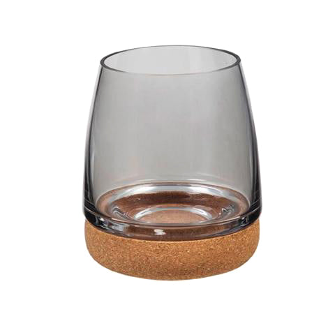 Stemless Wineglass w/ cork bottom-Blue