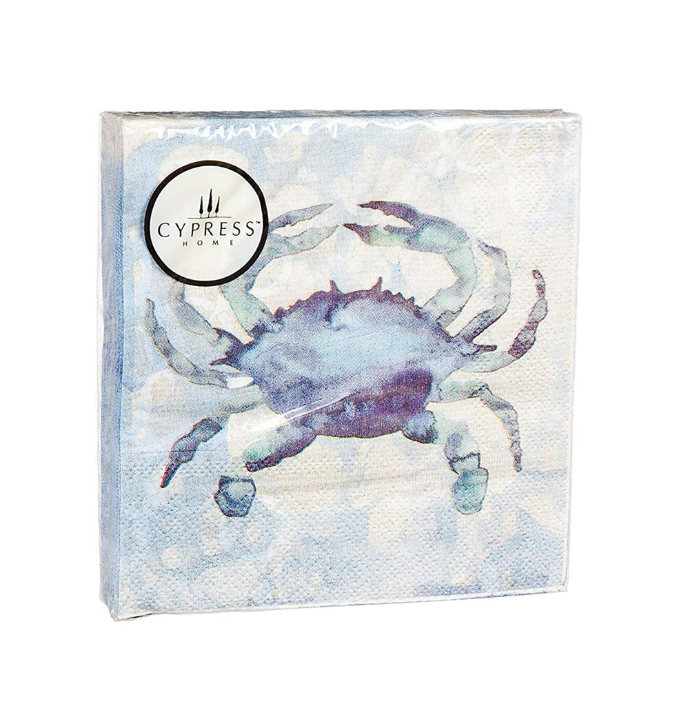 By the Sea Crab Paper Cocktail Napkin