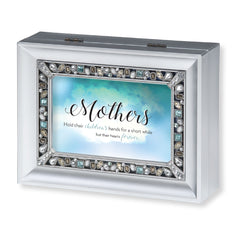"""Mothers"" Silver Jeweled Music Box"