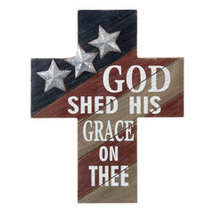 Patriotic Cross Plaque