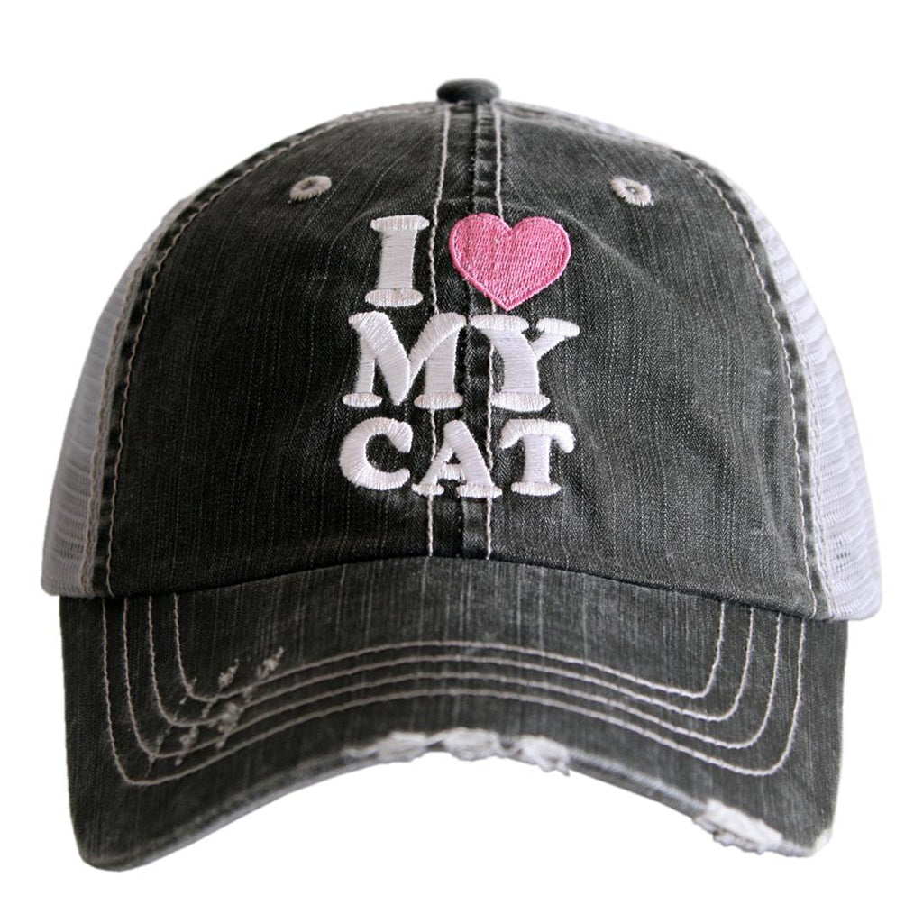 Katydid Hat I Love My Cat