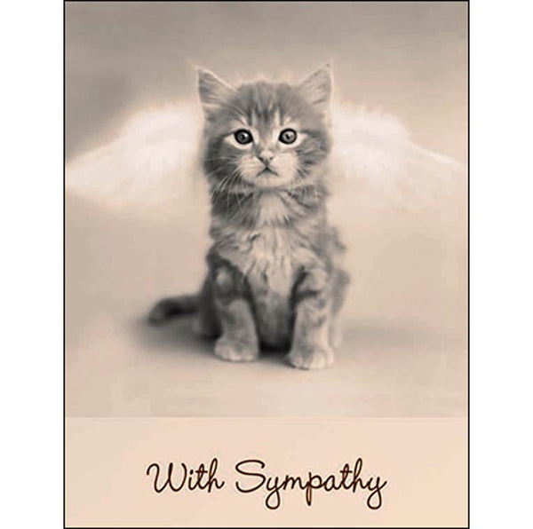 Sympathy Card for Pet: God made sure those Pearly Gates contained a kitty door.
