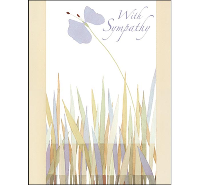 Sympathy Card: Wishing you peace and comfort in the days ahead.