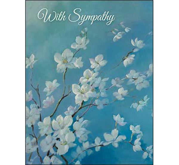 Sympathy Card: Sending love and light and wishing you peace.