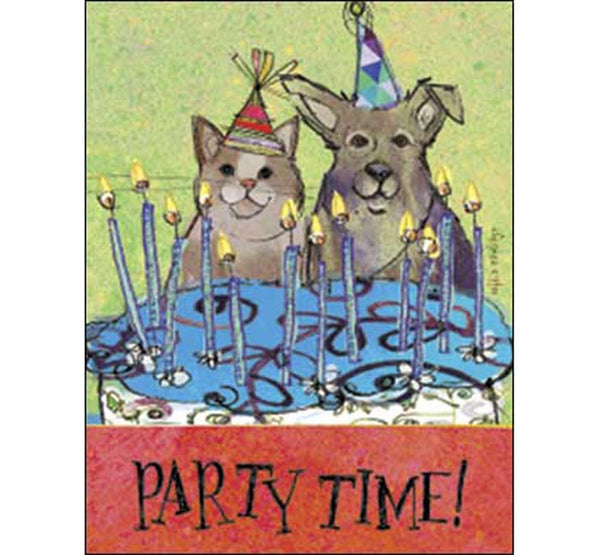 Birthday Card: Birthday time, candle time, wish time...PARTY TIME!