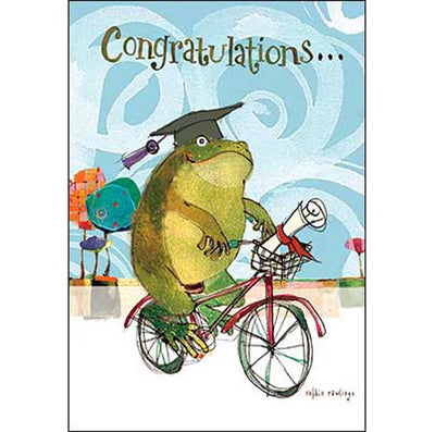 Graduation Card: You toadally did it!