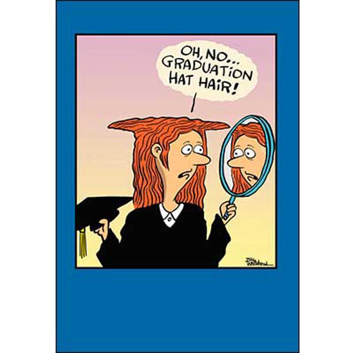 Graduation Card: Hats off you! Congratulations on your graduation.