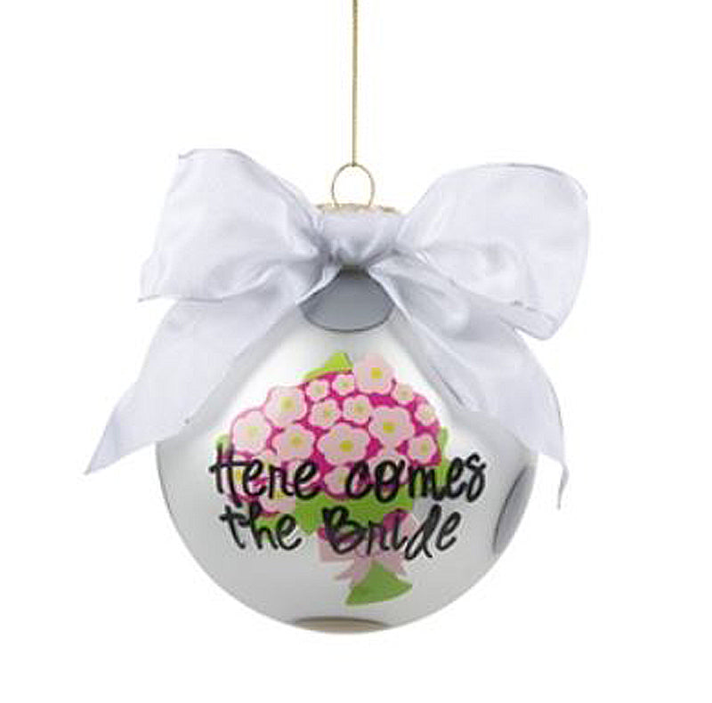 The Bride Bouquet Frosted Ornament