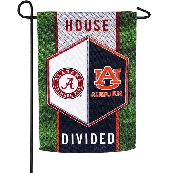 "Alabama & Auburn ""House Divided"" Garden Flag"