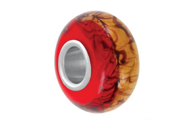 Earth's Core Glass Bead - Red