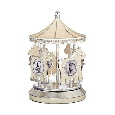 Baby Photo Musical Carousel- Ivory