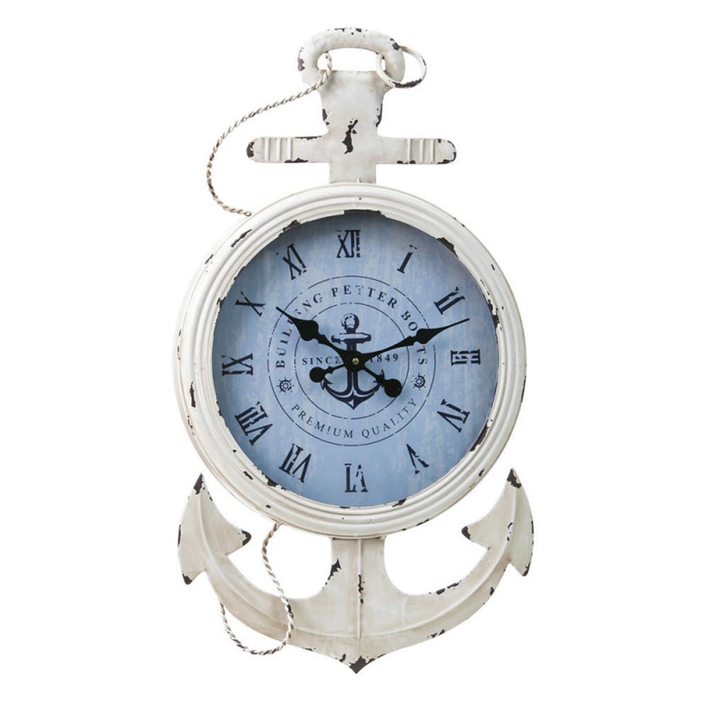 Metal And Wood Anchor Clock